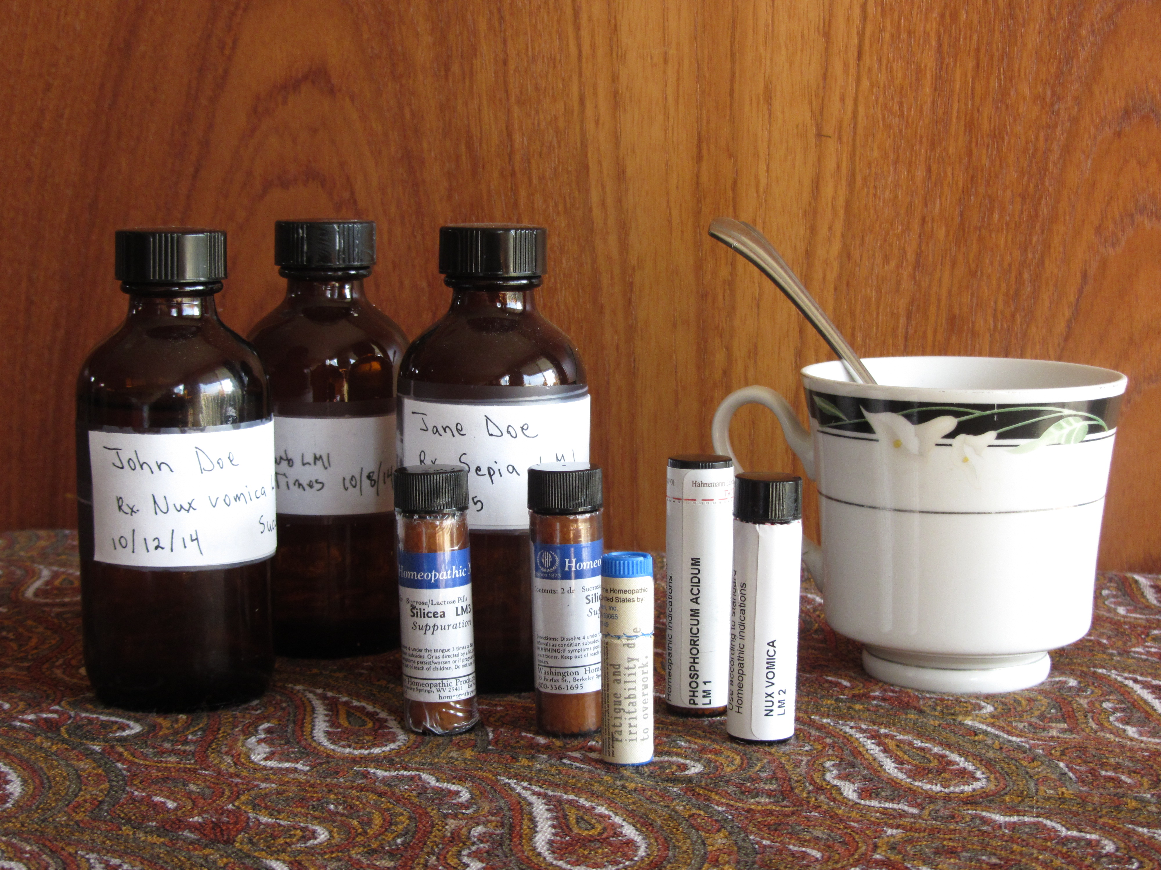 LM Potency Stock Bottles And Remedy