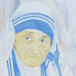 Mother Teresa Portrait by Deborah Olenev