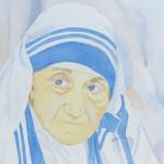 Mother Teresa Portrait by Deborah Olenev