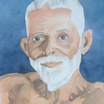 Portrait of Ramana Maharshi by Deborah Olenev