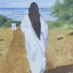 Anandamayi Ma Watercolor by Deborah Olenev